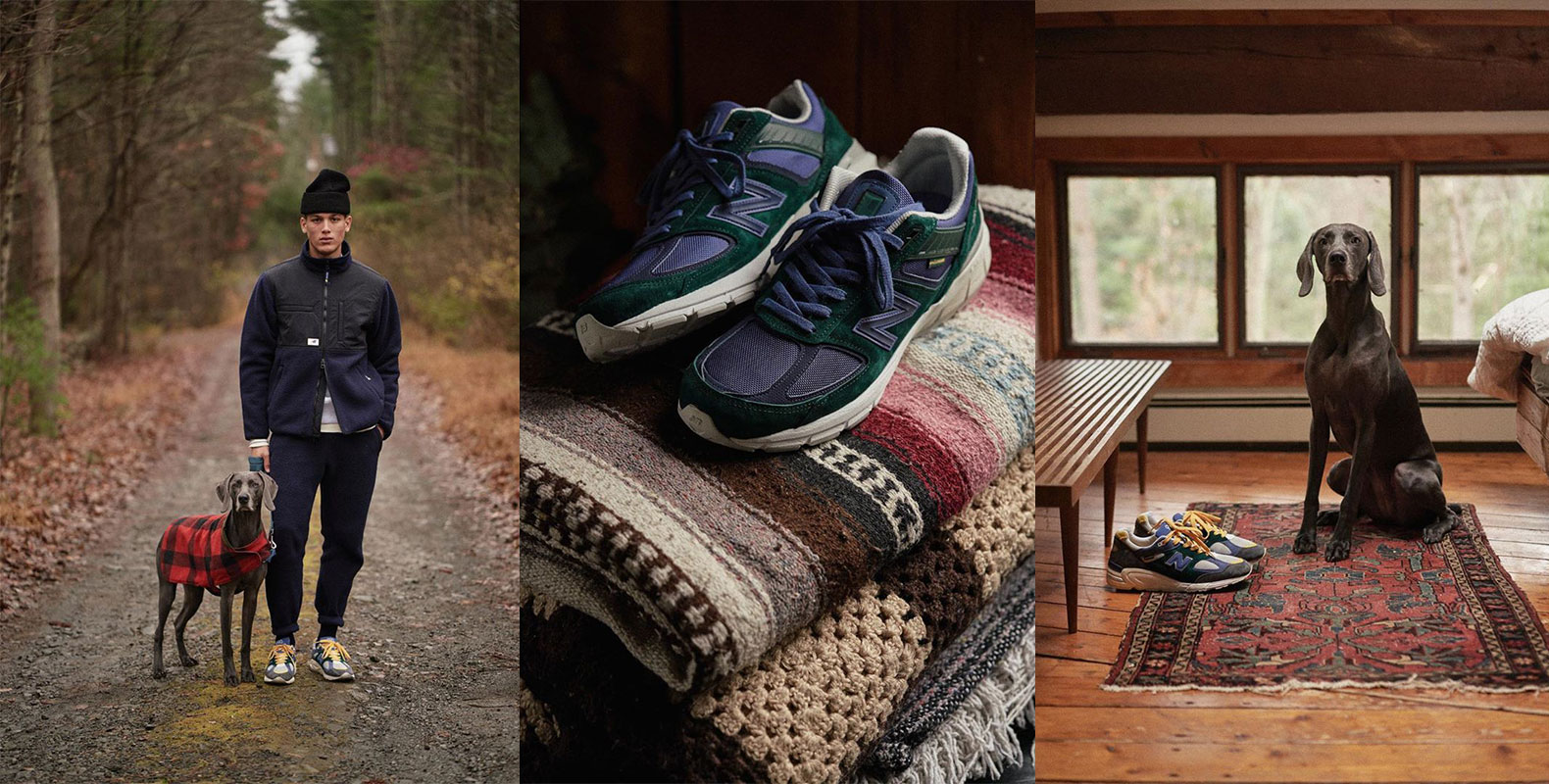 Aimé Leon Dore x New Balance just dropped the New Balance 990s series. The new silhouettes 990v2 n 900v5 drawn upon the colors, sights n sounds of a trip from NYC to the lush forests of upstate NY State. U in?