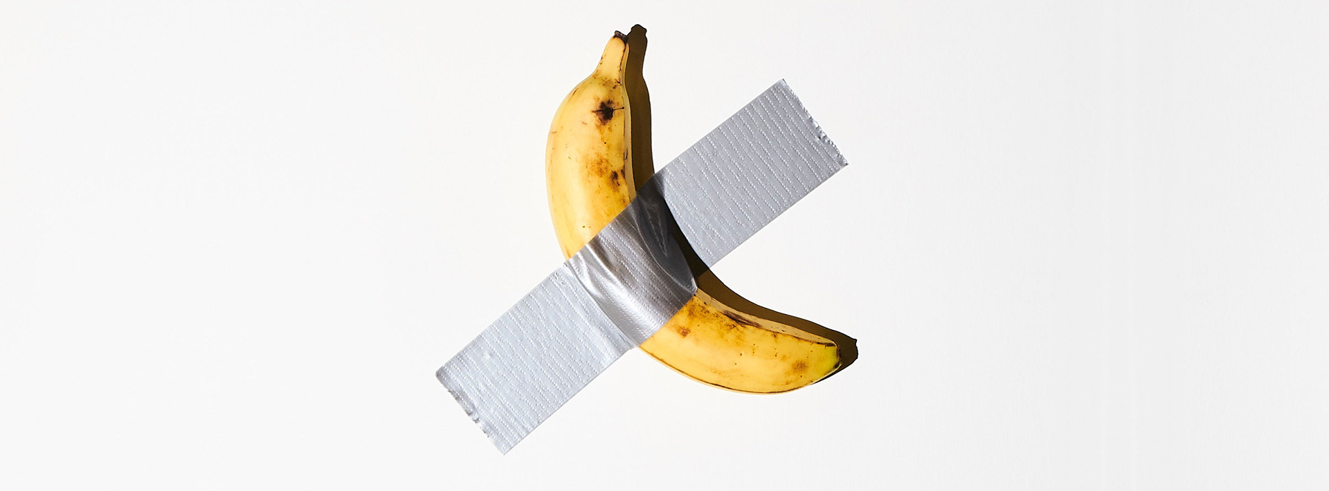 So, this duct-taped banana at the wall