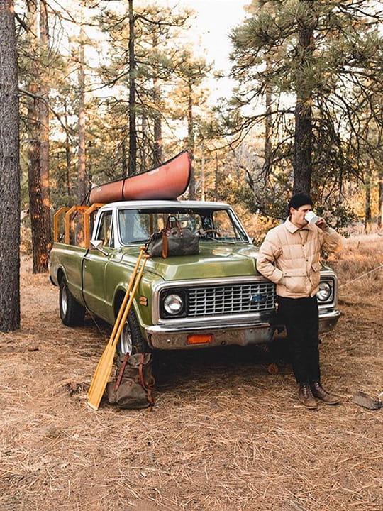 Jungle basics: ur truck, kayak nd adventure spirit.