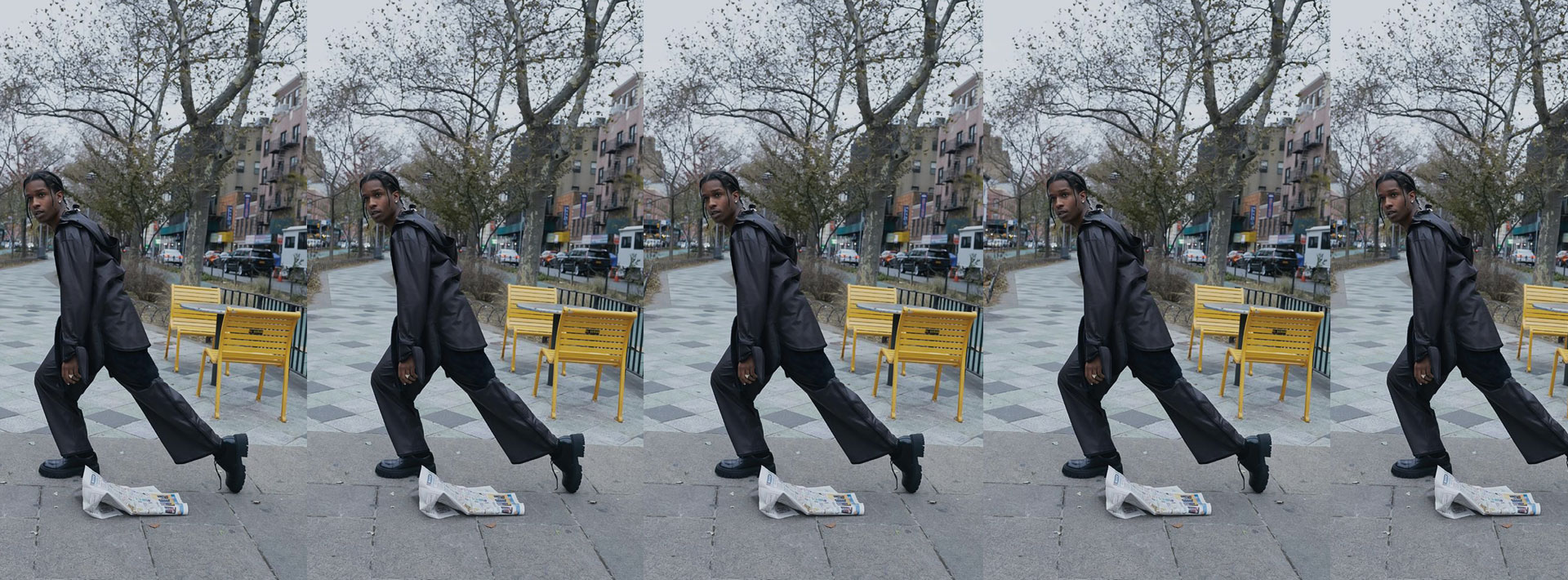 Can we all Praise The Lord for A$AP Rockin' these leather looks? then take some more @ METCHA.COM