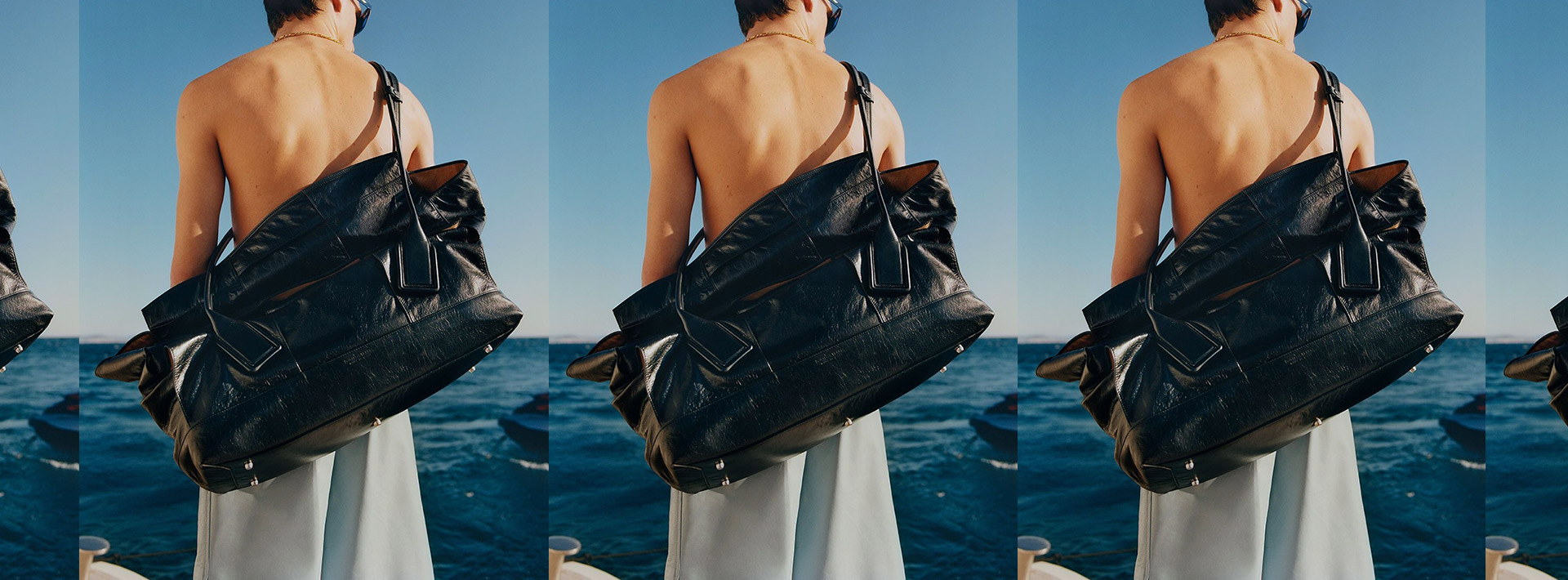 4 words, 1 feeling: saucy at the beach 🕶 Bottega Veneta SS20 snaps by Tyrone Lebon is the one we be waitin' for, this season.