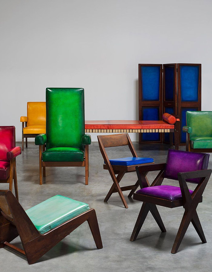 Let the extra collectable collab Berluti x Pierre Jeanneret gets all your bold colored leather palletes cravings intensified.