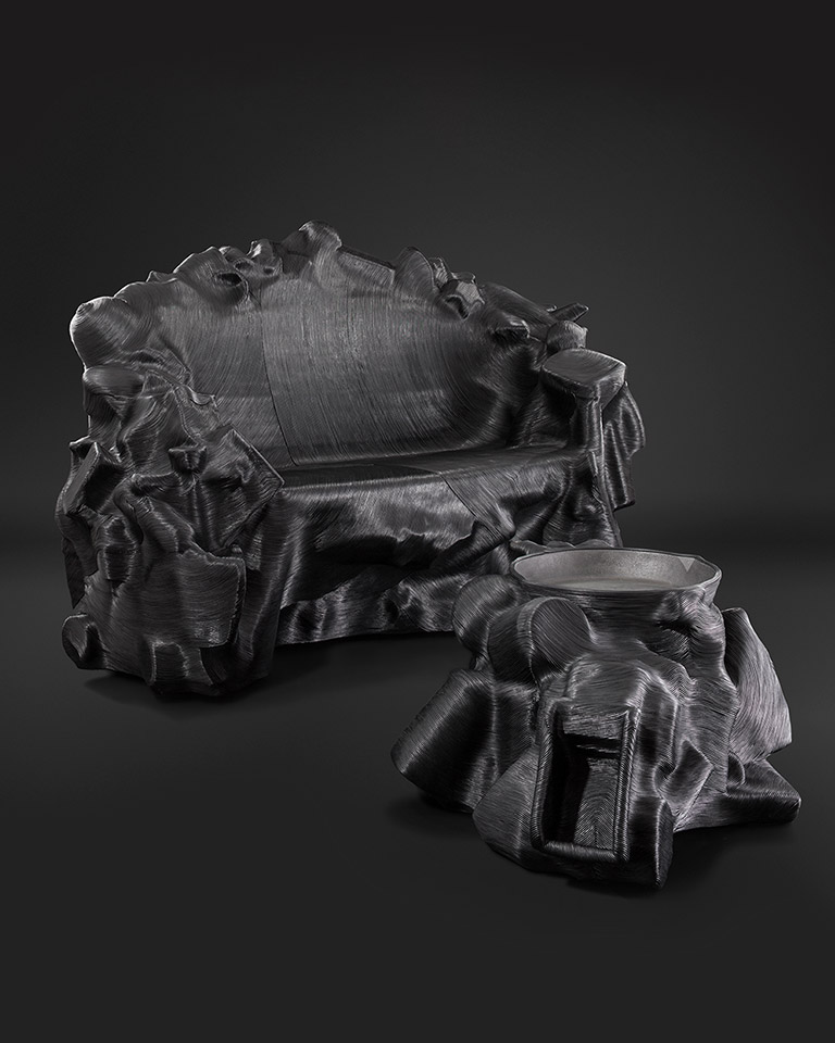 The furniture designer Jay Sae Jung Oh turns discarded leather + mass manufactured objects into sustainable masterpieces.