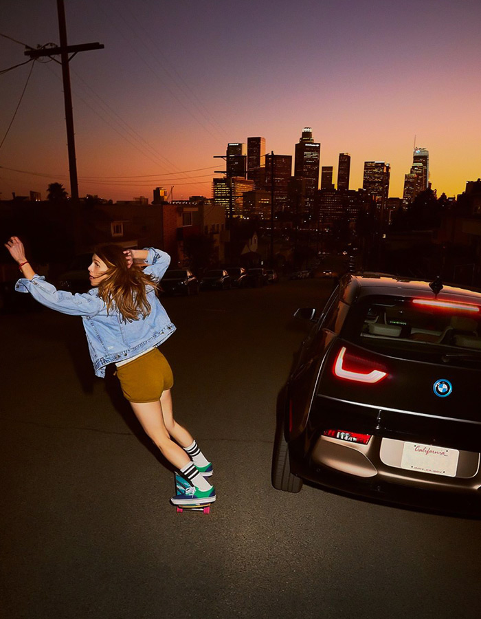 Getting lost in the City of Angels in an all-electric & sustainable leather BMW i3 ride.