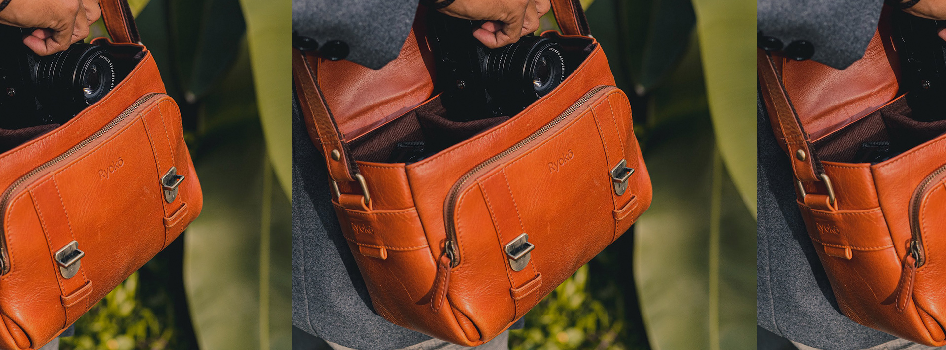 Survival work from home kit in Ryokō's leather goods.