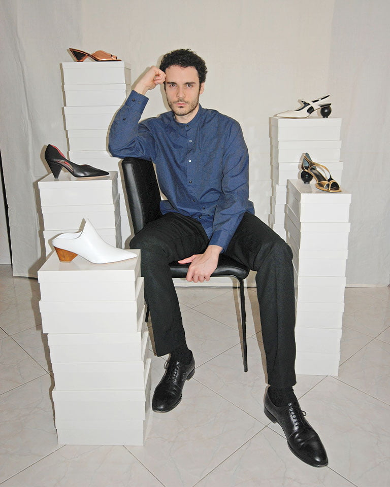 The Rome-based footwear designer was born & raised in the biggest en plein air museum of the world.