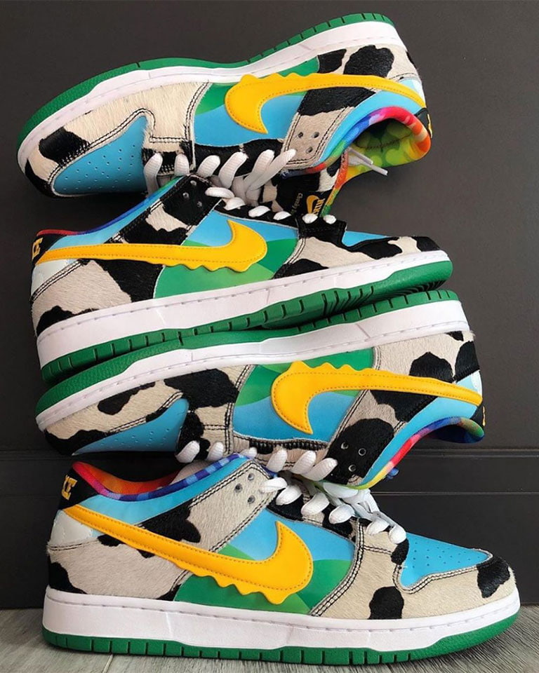 Served cold: A closer look at the Ben & Jerry's x Nike SB Chunky Dunky coming on May 23rd.