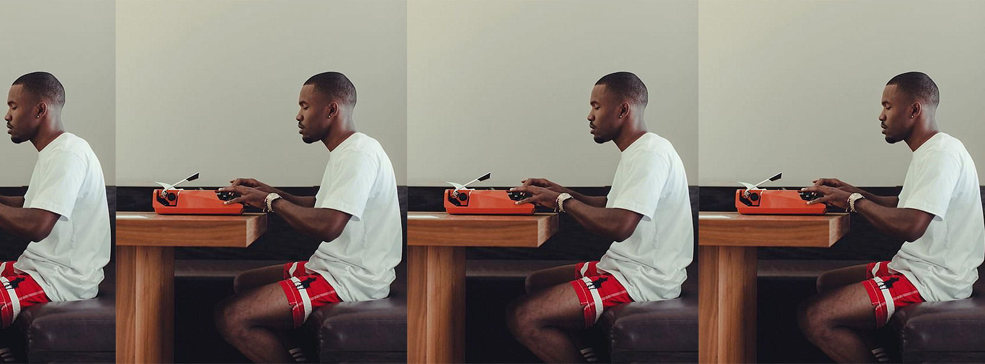 Biggest wish is knowing what's on Frank Ocean's typewriter.