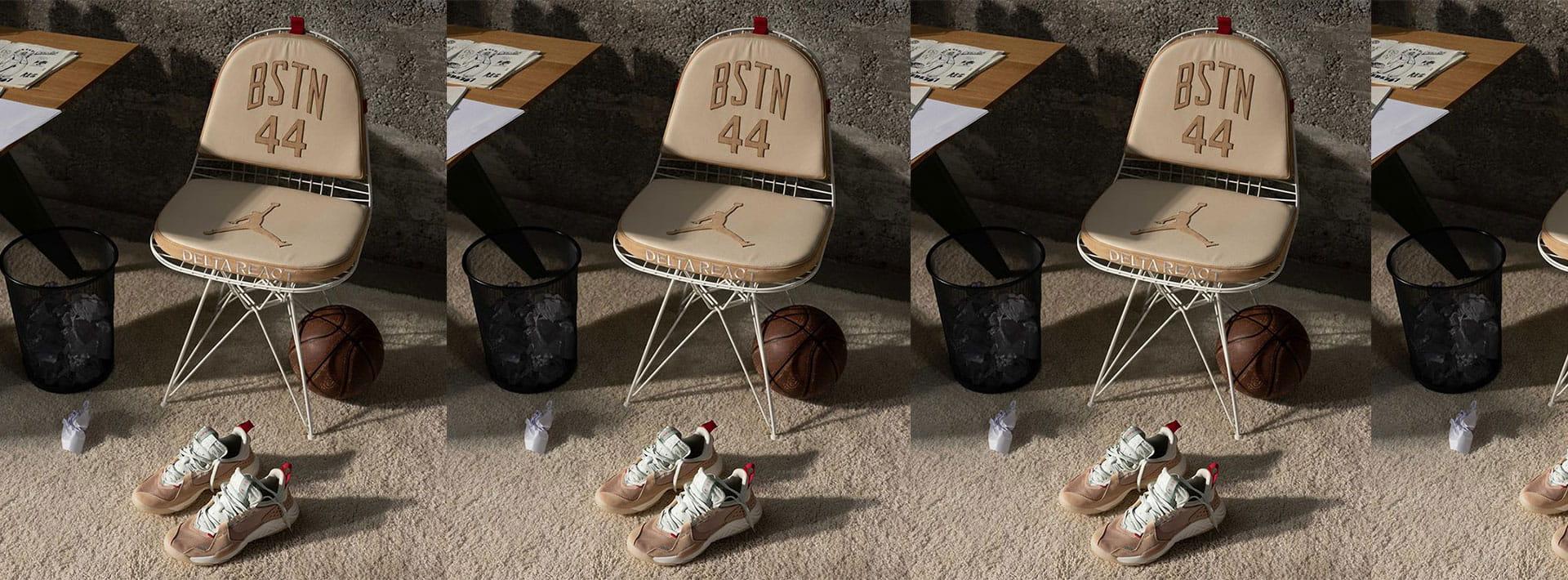 The custom-built Jordan Chair designed by BSTN alongside the new Jordan Delta React is def a next-level release.