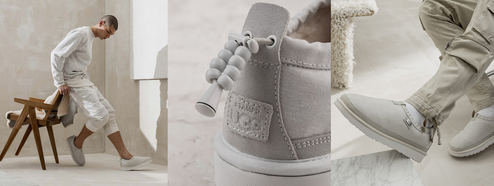 Ultimate suede quarantine shoes by UGG x Stampd ☁️ get in full toughness & comfort.