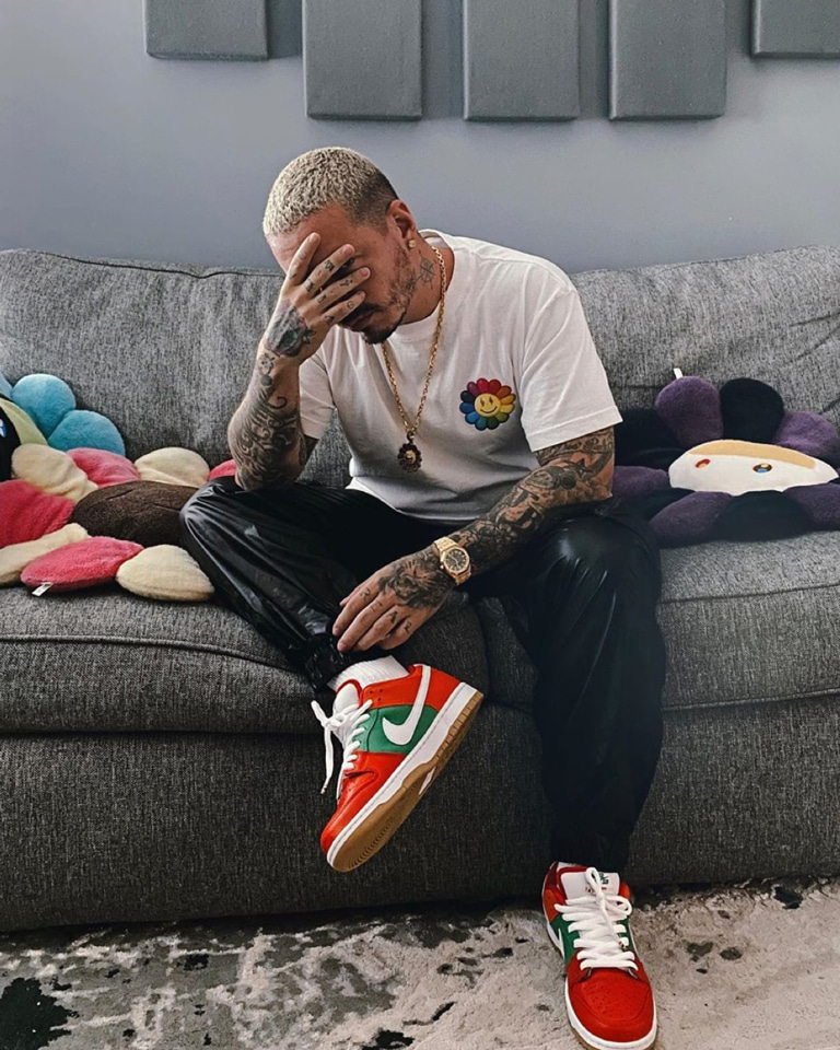 We may or may not be dreaming 'bout J. Balvin sneakers colection rn.