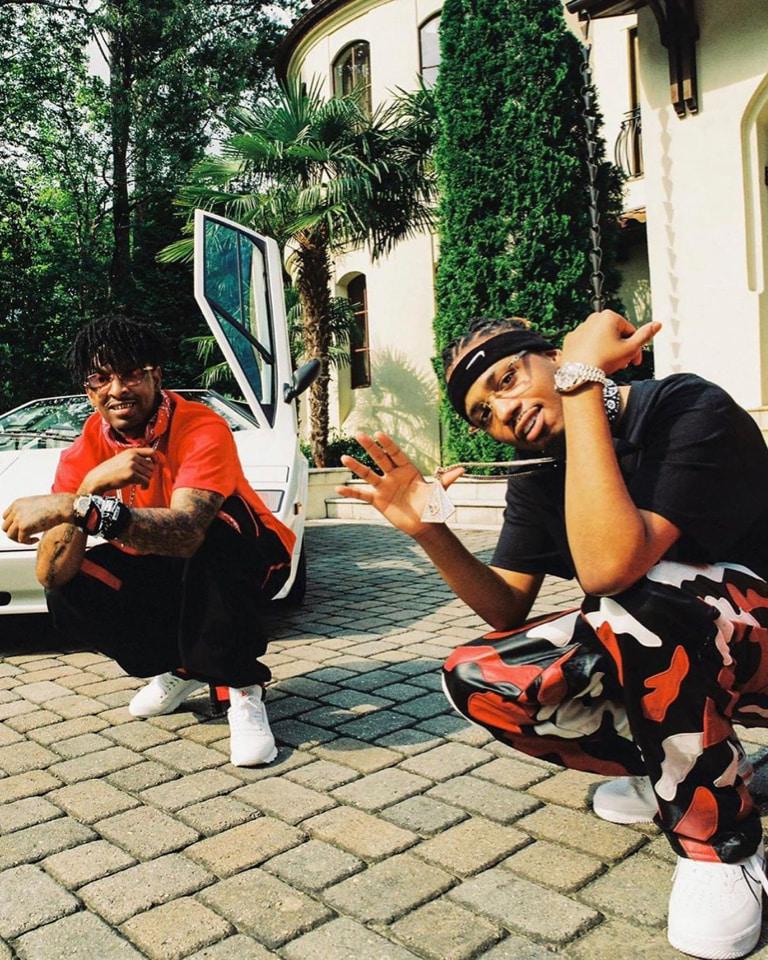 Billboard No. 1 album SAVAGE MODE II by 21 Savage x Metro Boomin came dropping lines & Supreme's leather camo pants.