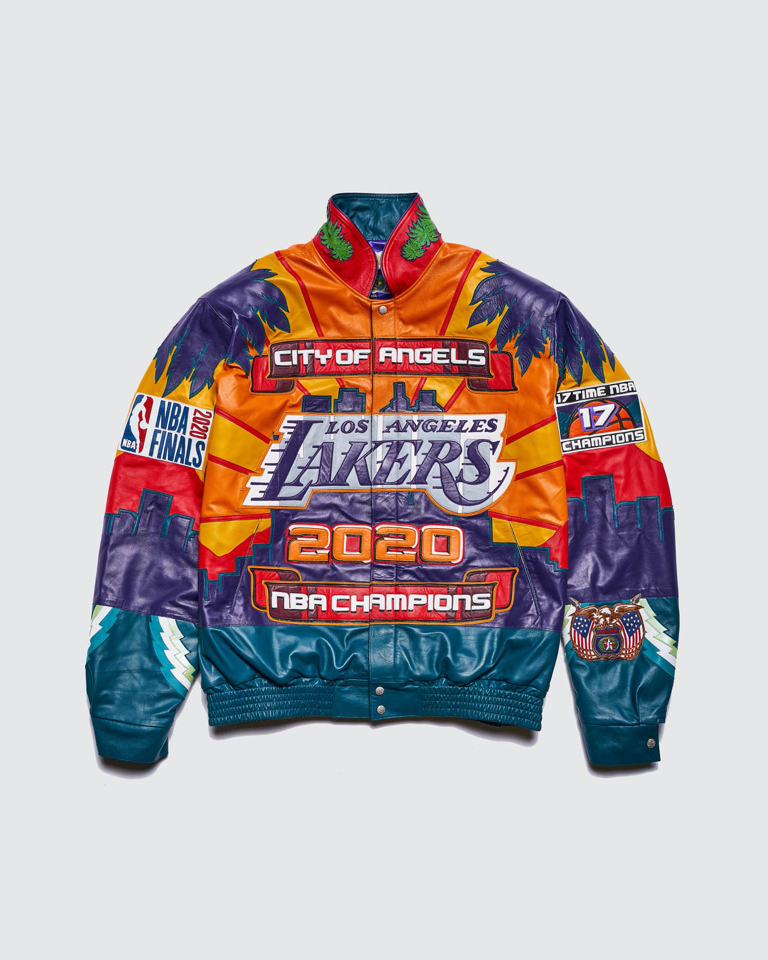 The latest 2020 NBA Lakers Championship leather jacket by Jeff Hamilton.