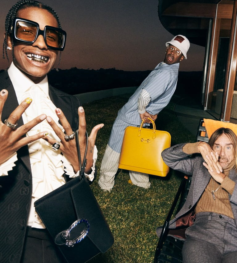 """Apparel / A$AP Rocky, Tyler, the Creator, and Iggy Pop Wearing Gucci Is the """"Life of a Rock Star"""""""