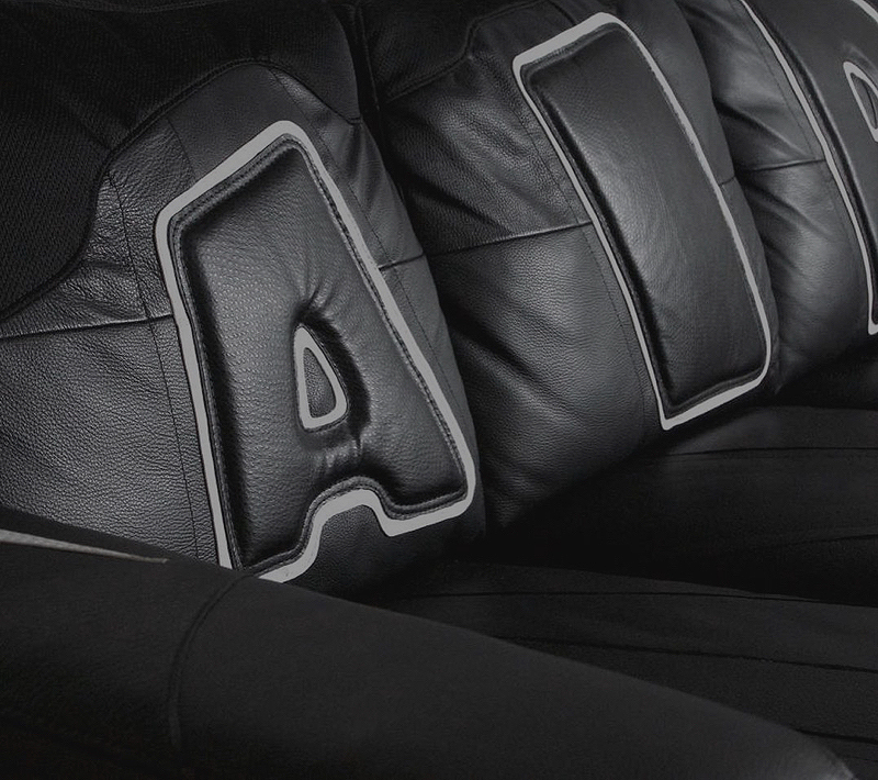 Aesthete Society commission for artist Amanda R. Leaman created a leather sofa as the ultimate celebration of sneakers.