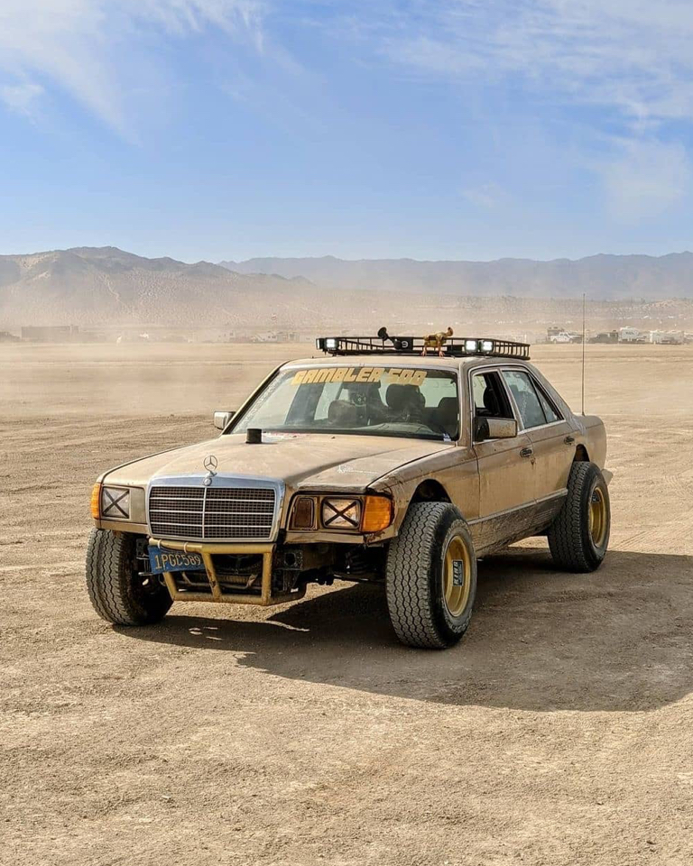 A fury road experience in this classic 1982 Mercedes S-Class.
