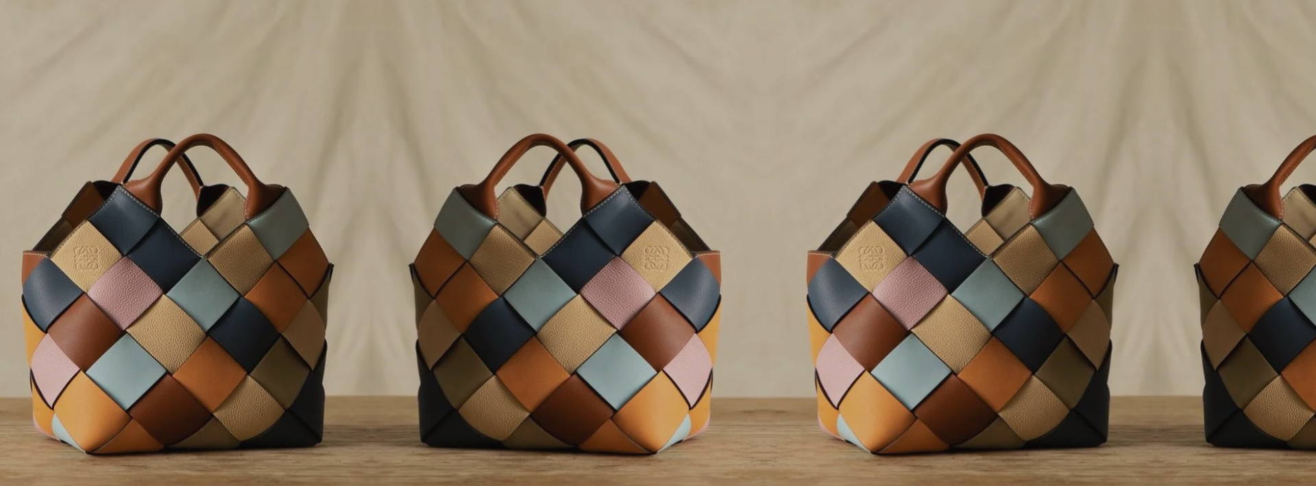 LOEWE launched their responsibly-made bags with the Surplus Project.
