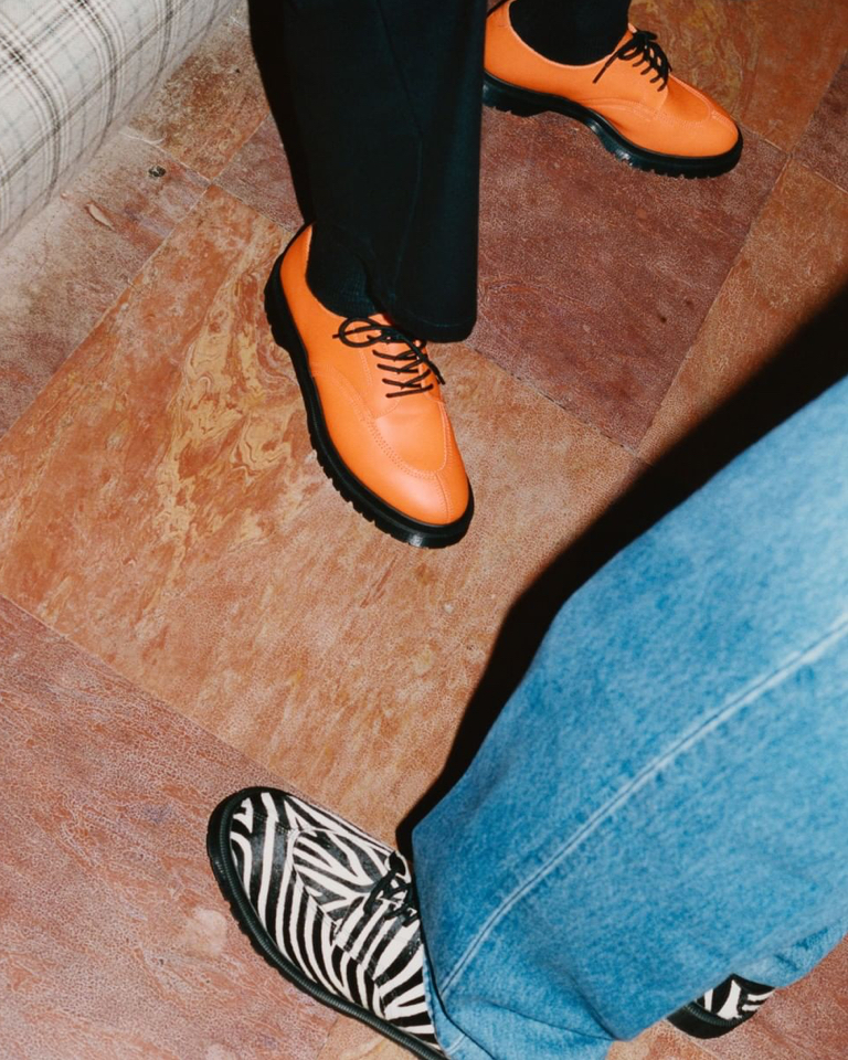 You know Supreme came into the game when a Dr. Martens gets zebra stripes.