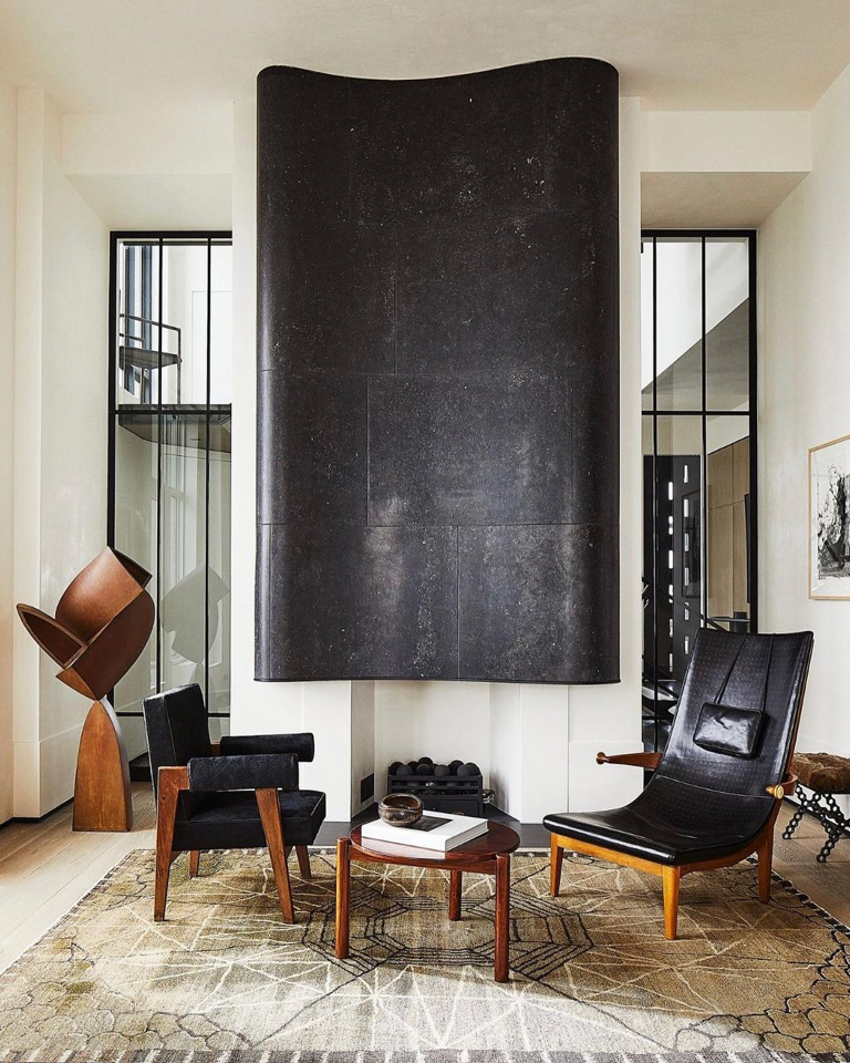 Interior designer Monique Gibson is taking contrast further with the help of dark leather finds.