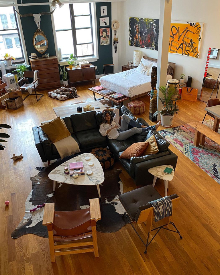 Spending more time in creative spaces like Camila Navas's Brooklyn apartment.