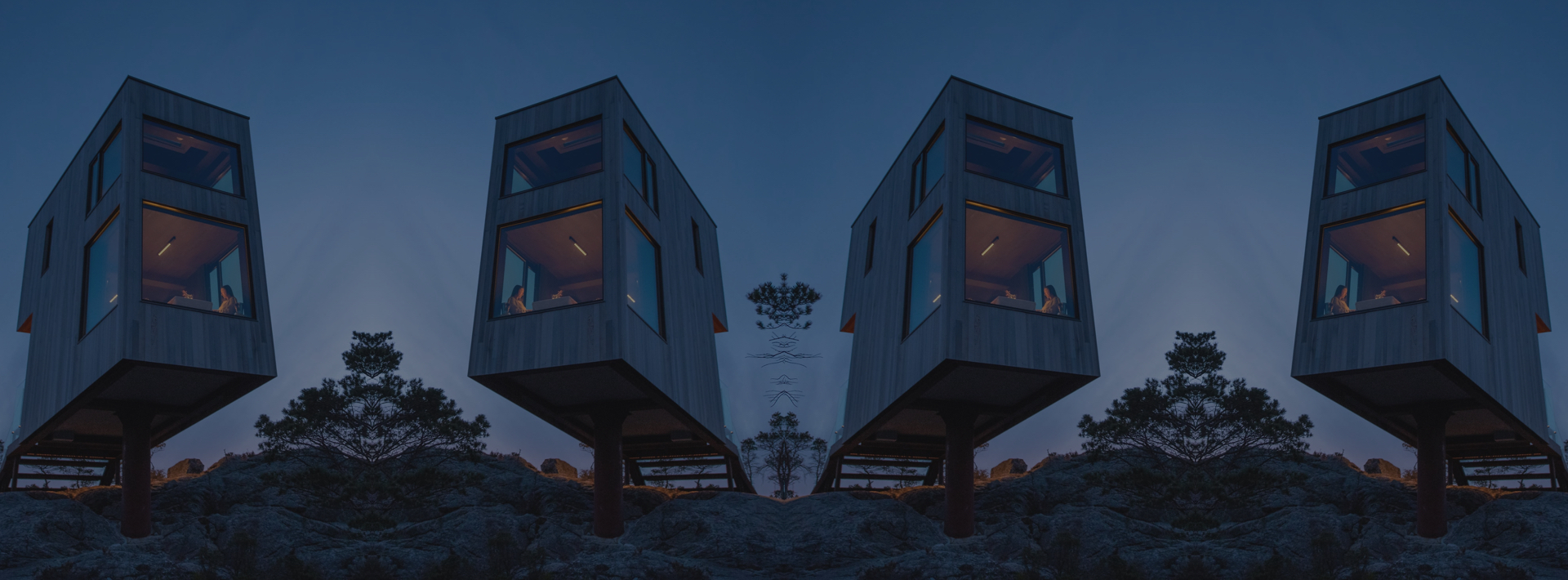 Waking up at the top of the world at The Bolder Sky Lodges.