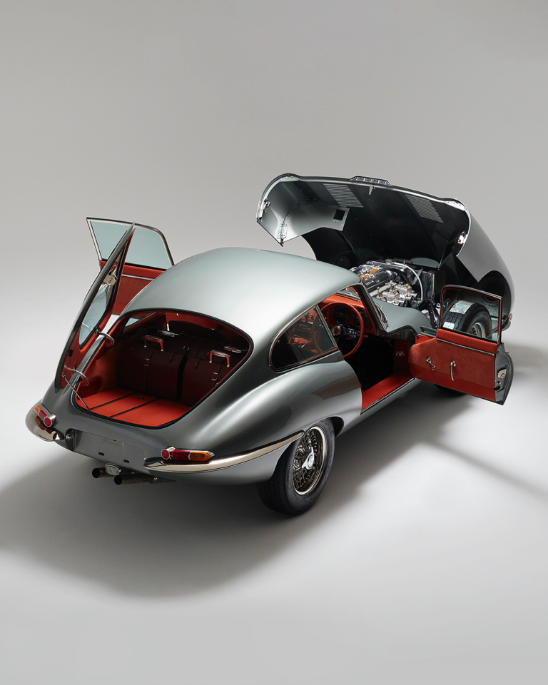 The Jaguar E-Type reimagined and modernized for a classic driving experience.