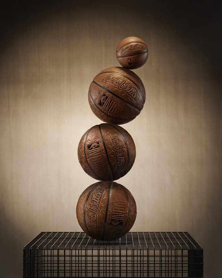 The official NBA game ball supplier crafted a limited-edition ball with LV's premium leather traditionally used only for their luggage.