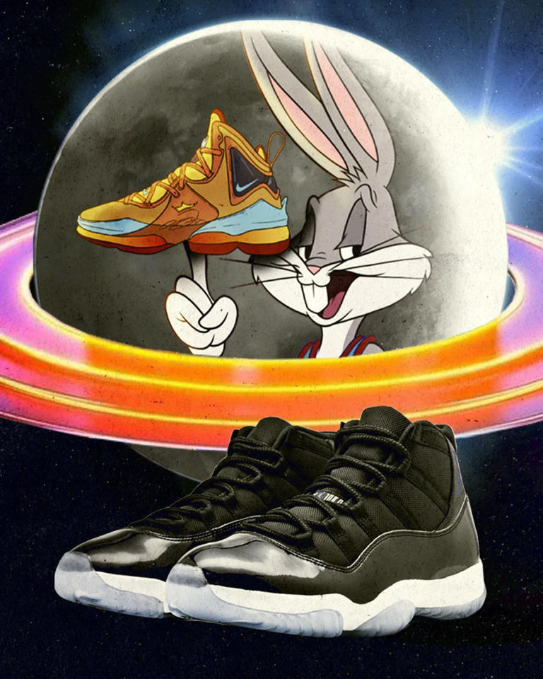 The Player Sample was produced in black leather and is still intact today, but Lola Bunny is present in the new design.