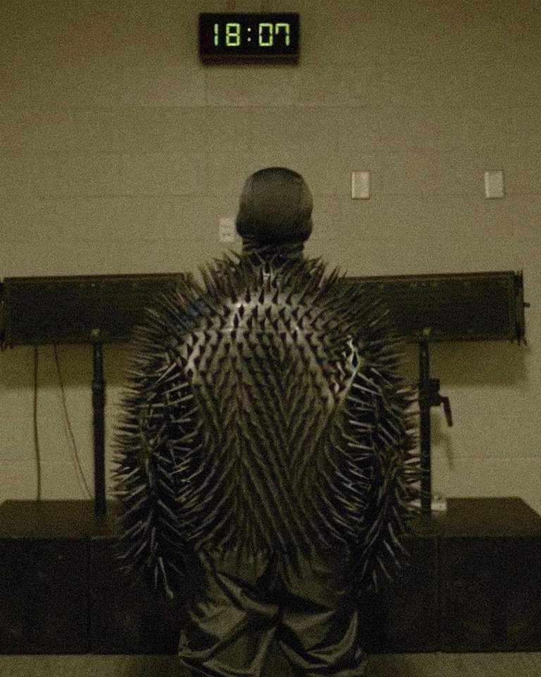 Ye wore a Balenciaga leather armor to reveal a little more of the mystery of his most mythical work.