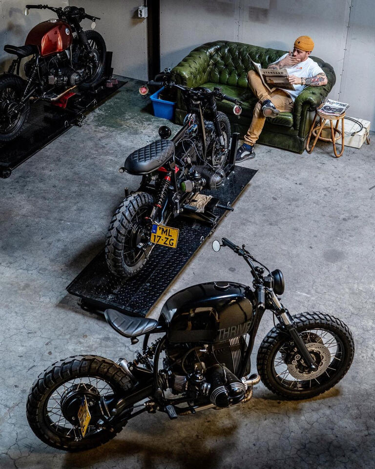 They are crazy about cafe racers and accept any challenge involving handlebars and leather seats.