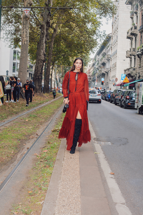 Milan Fashion Week  - Dolce Gabbana fashion show - Leather Bag and Suede Boots