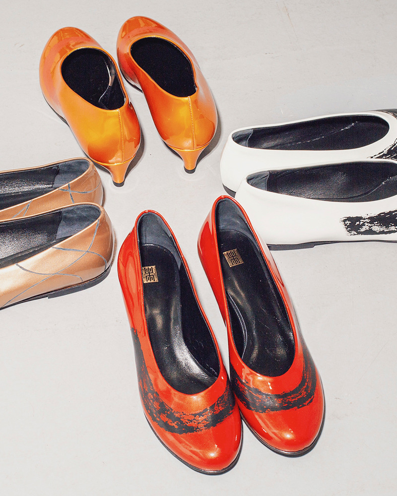 METCHA - Matteo Maiorano Interview - red, white, orange and brown leather shoes