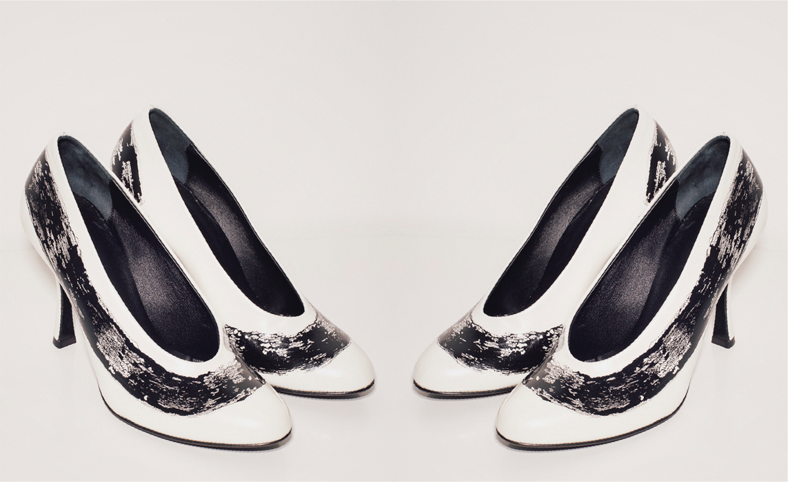 METCHA - Matteo Maiorano Interview - White leather heel with black paint