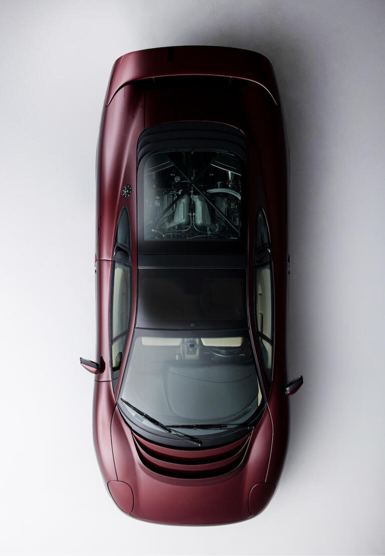 The fastest production car of the time caught collectors' eyes for featuring a Monza red exterior and sand leather interior.